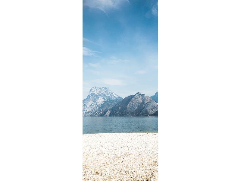Türtapete Der idyllische Bergsee