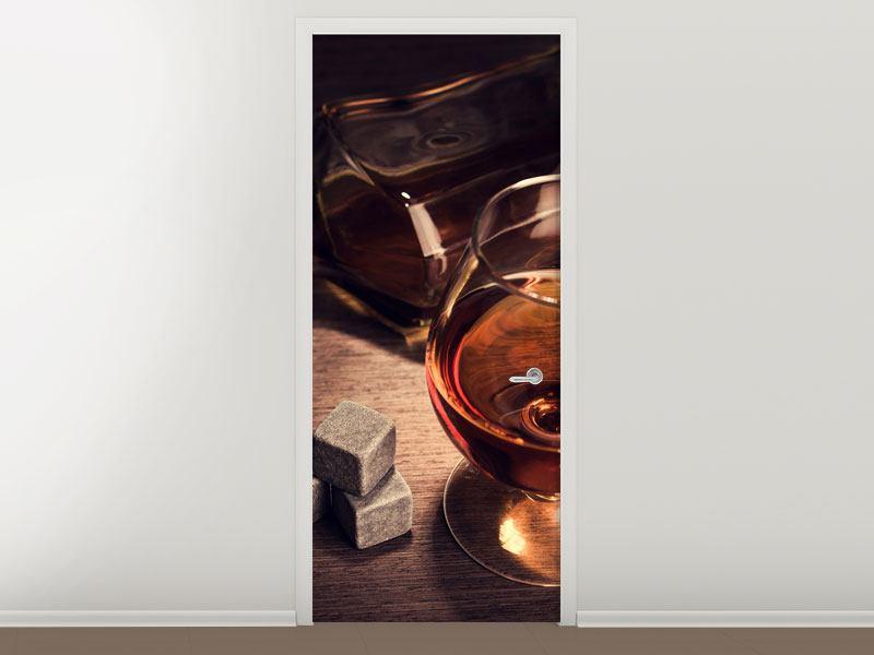 Türtapete Ein Glas Cognac
