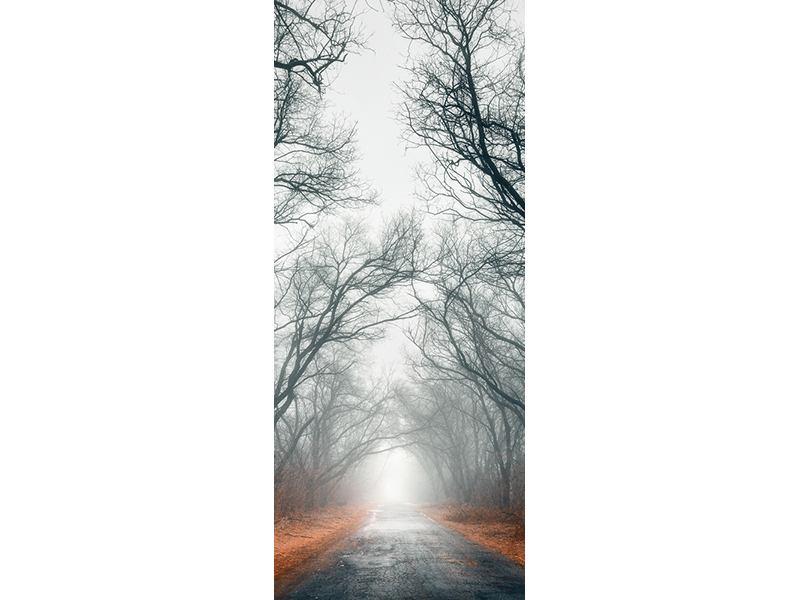 Türtapete Mysteriöse Stimmung im Wald