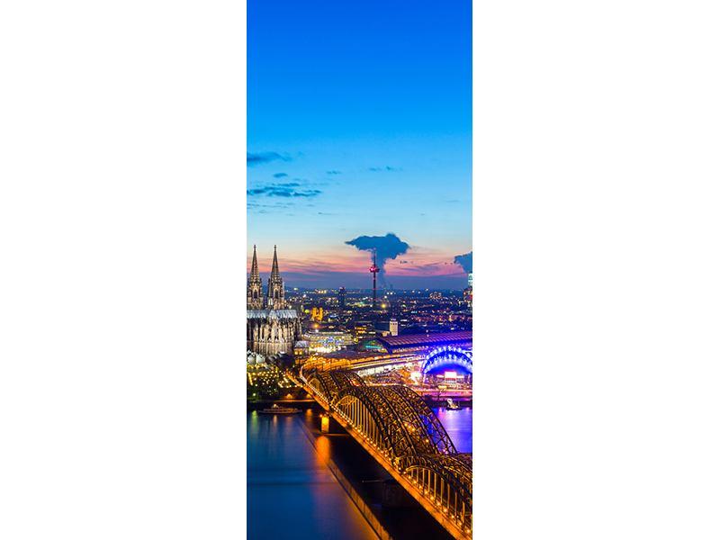 Türtapete Skyline Ein Penthouse in Köln