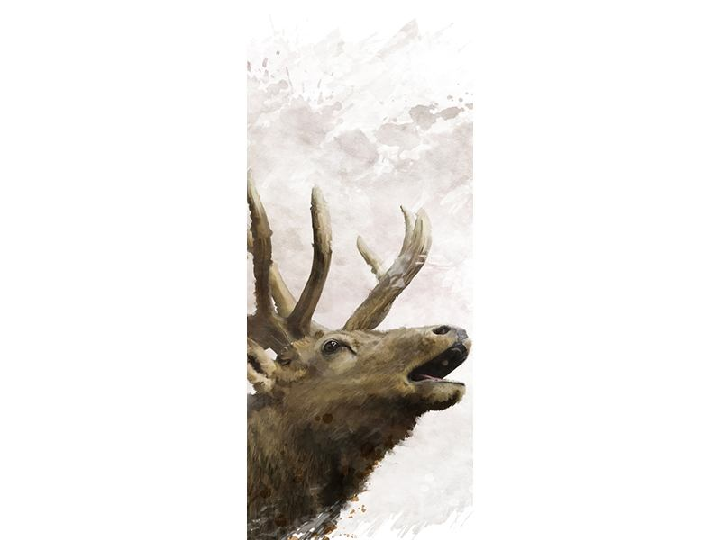 Türtapete Elch-Gemälde