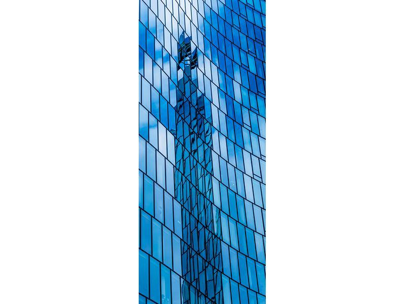 Türtapete Glashaus