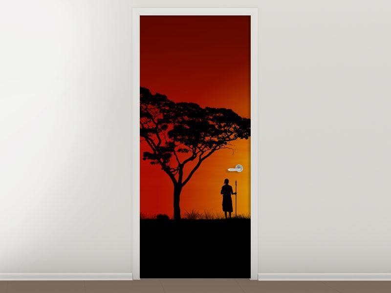 Türtapete Afrikanische Steppenelefanten