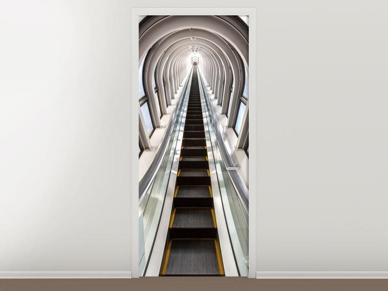 Türtapete Futuristische Rolltreppe