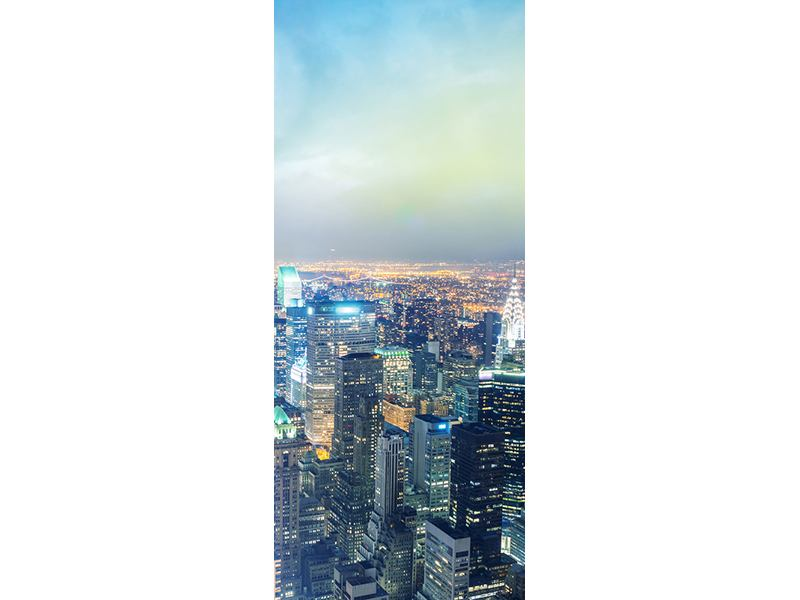 Türtapete Skyline NY bei Sonnenuntergang