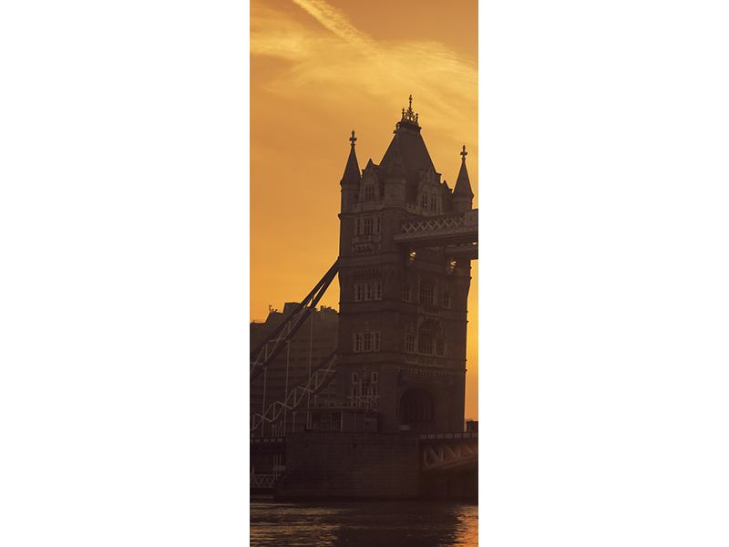 Türtapete Sonnenuntergang bei der Tower-Bridge