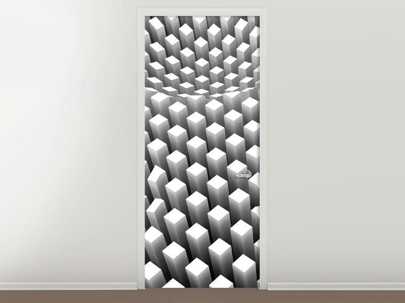 Türtapete 3D-Rasterdesign