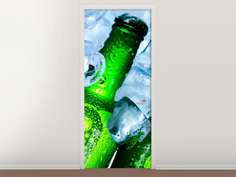 Türtapete Eisflaschen
