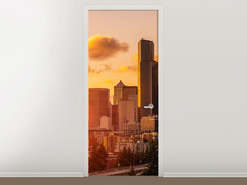 Türtapete Skyline Washington