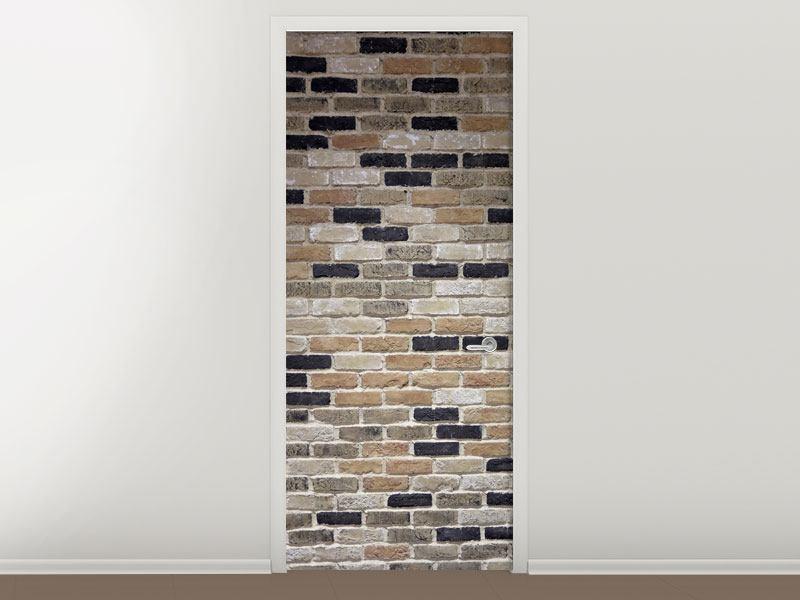 Türtapete Backsteinmauer