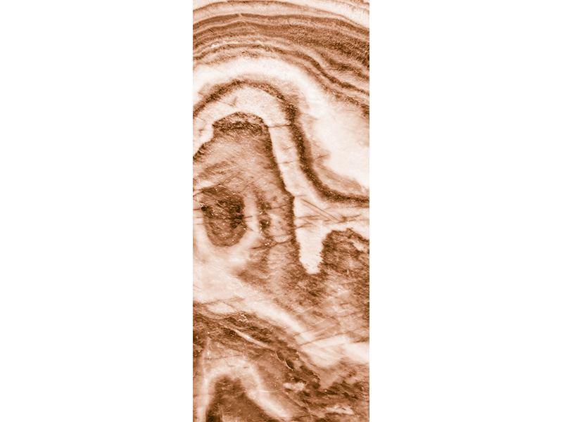 Türtapete Marmor in Sepia