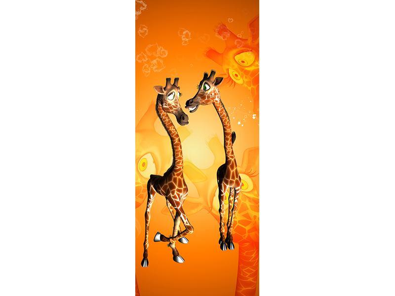 Türtapete Giraffen Kinder