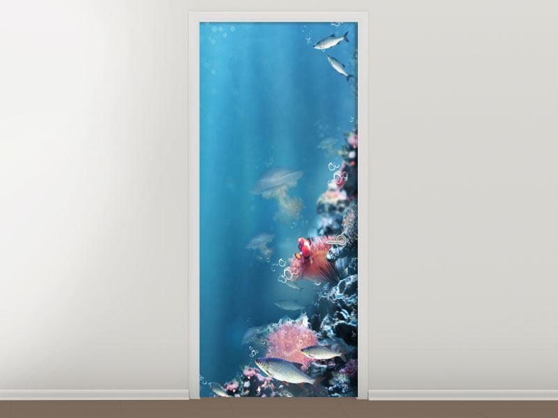 Türtapete Unter Wasser