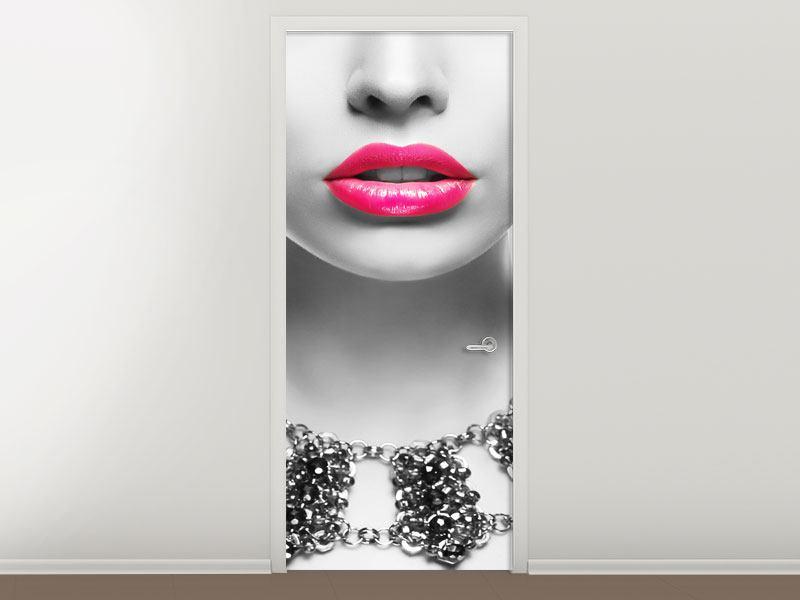 Türtapete Rote Lippen