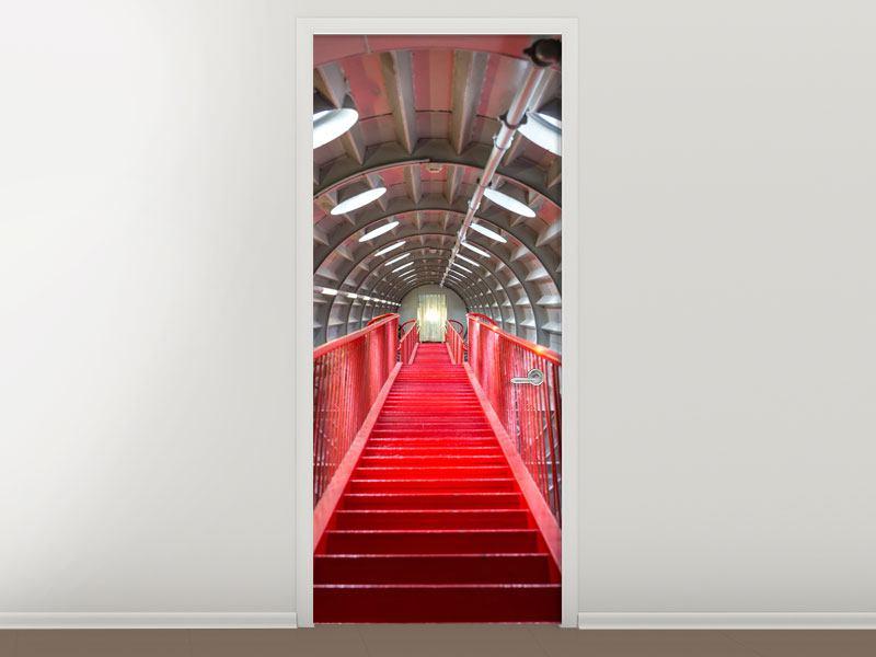 Türtapete Futuristische Treppe