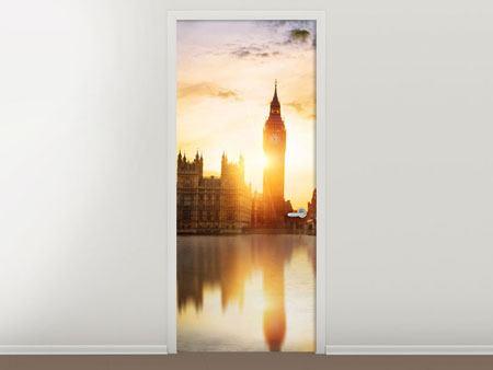Türtapete Skyline Big Ben im Sonnenuntergang