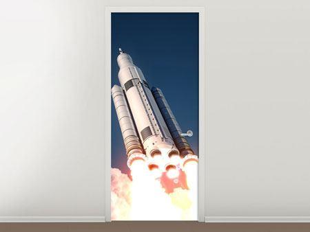 Türtapete Raketenstart