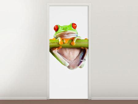 Türtapete Frosch-Akrobatik