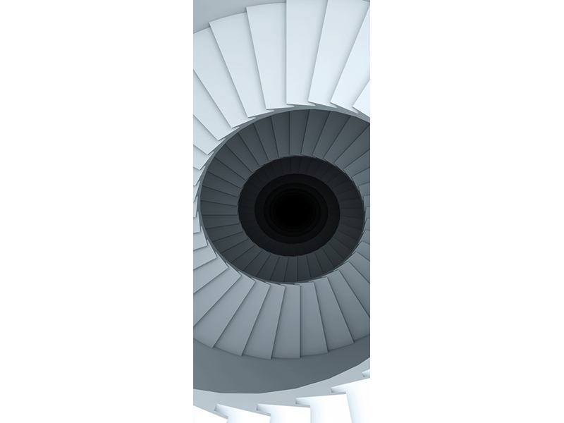 Türtapete 3D Wendeltreppe
