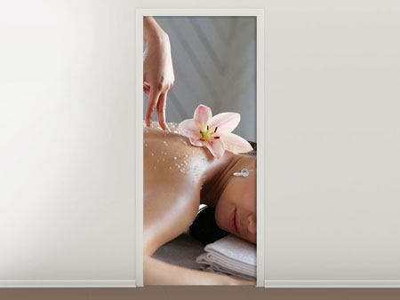 Türtapete Spa Massage