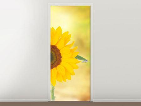 Türtapete Die Sonnenblume