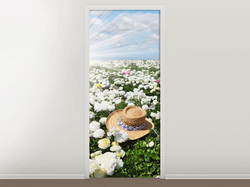 Türtapete Die Frühlingsblumenwiese