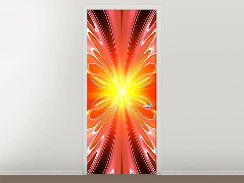 Türtapete Abstraktes Farbenspektakel