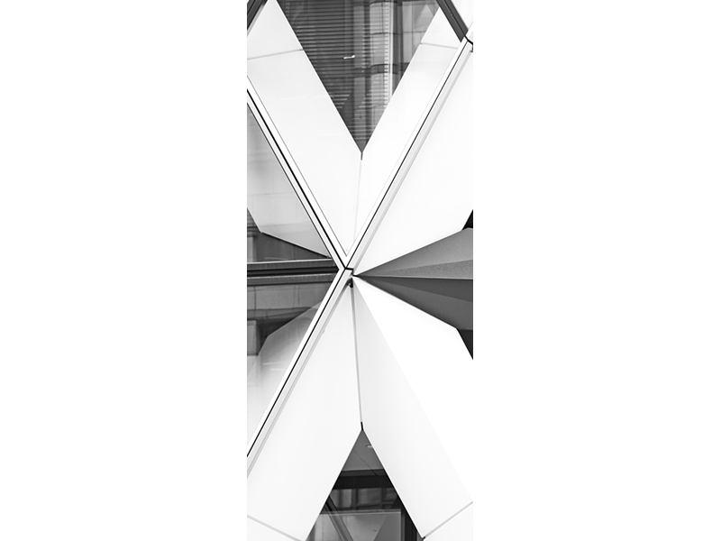 Türtapete Teil eines Wolkenkratzers