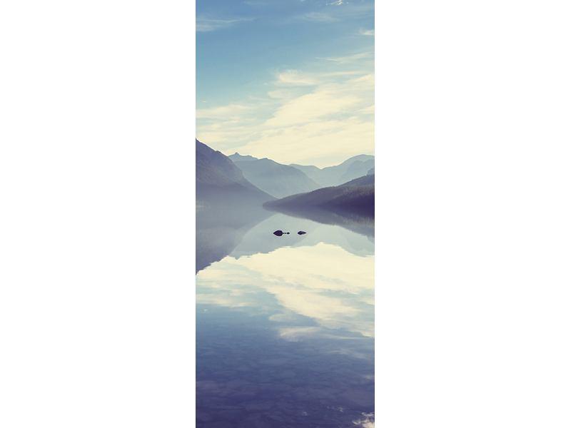 Türtapete Bergspiegelung