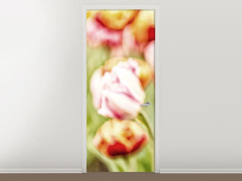 Türtapete Die Schönheit der Tulpe