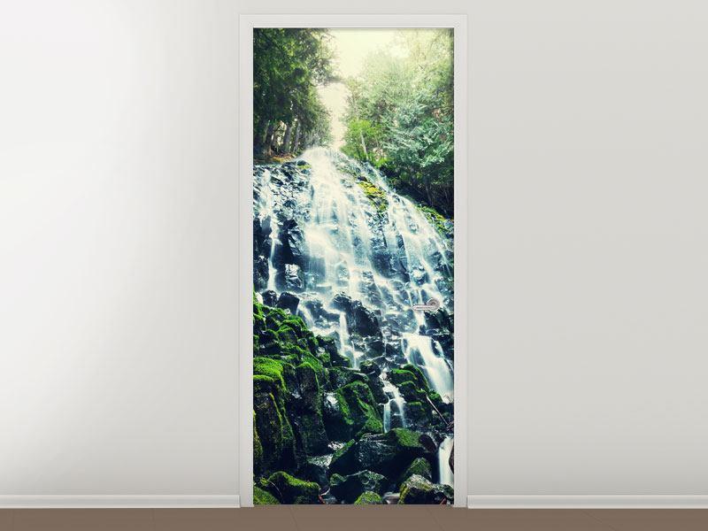 Türtapete Feng Shui & Wasserfall