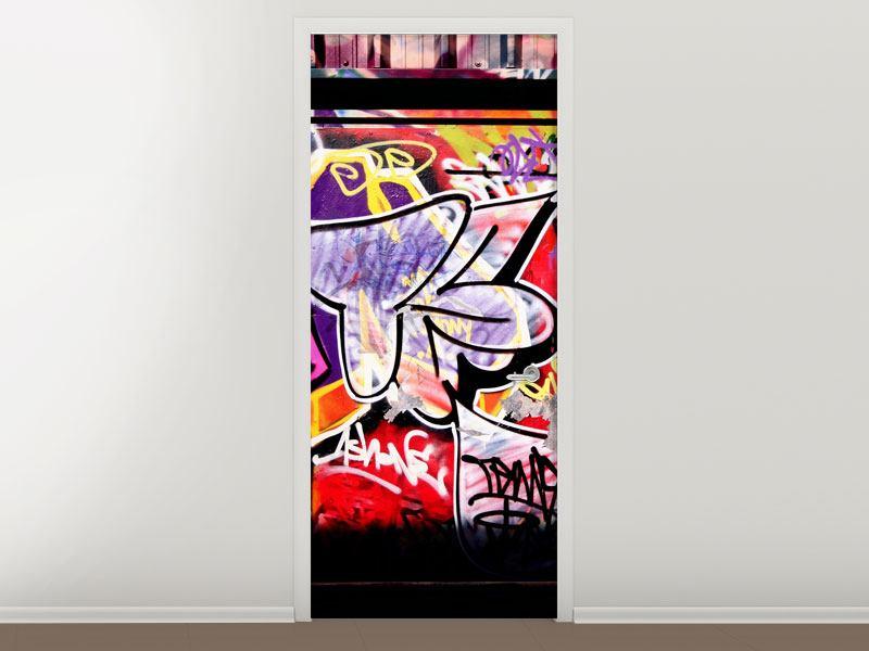 Türtapete Graffiti Kunst