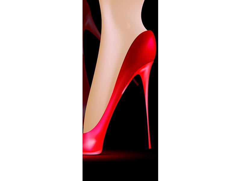 Türtapete Der rote High Heel