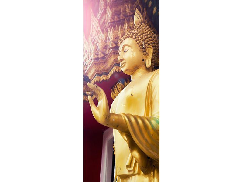 Türtapete Buddha Skulptur