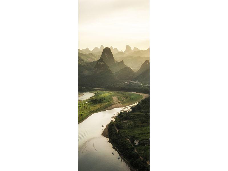 Türtapete Die Berge von Xingping