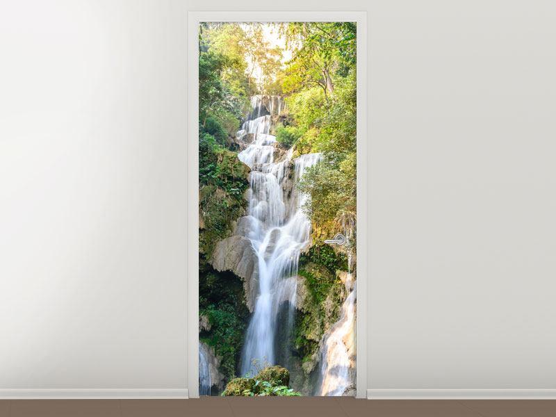 Türtapete Berauschter Wasserfall