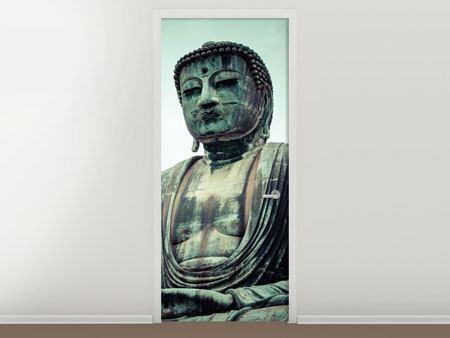 Türtapete Meditierender Buddha