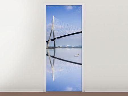 Türtapete Die Pont de Normandie