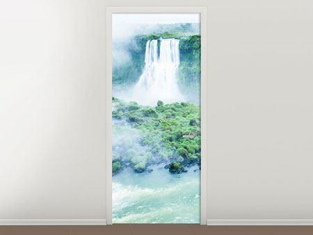 Türtapete Wasserfälle
