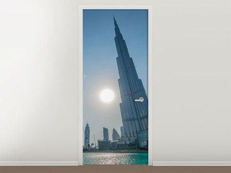 Türtapete Wolkenkratzer-Architektur Dubai