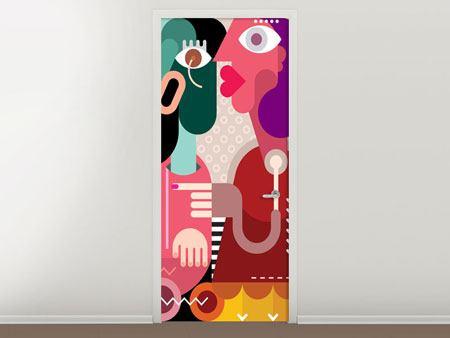 Türtapete Moderne Kunst Frauen