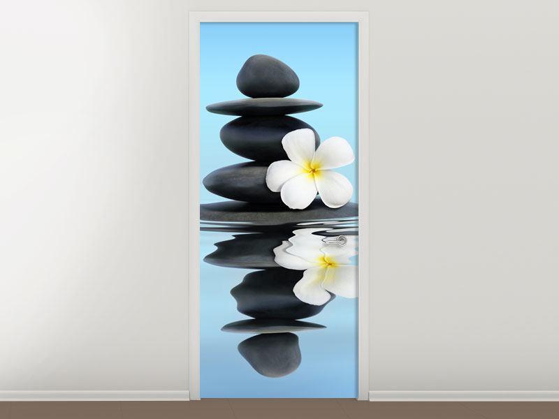 Türtapete Zen Steine