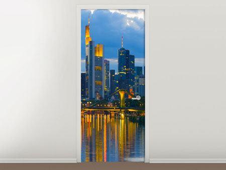 Türtapete Skyline Frankfurt am Main