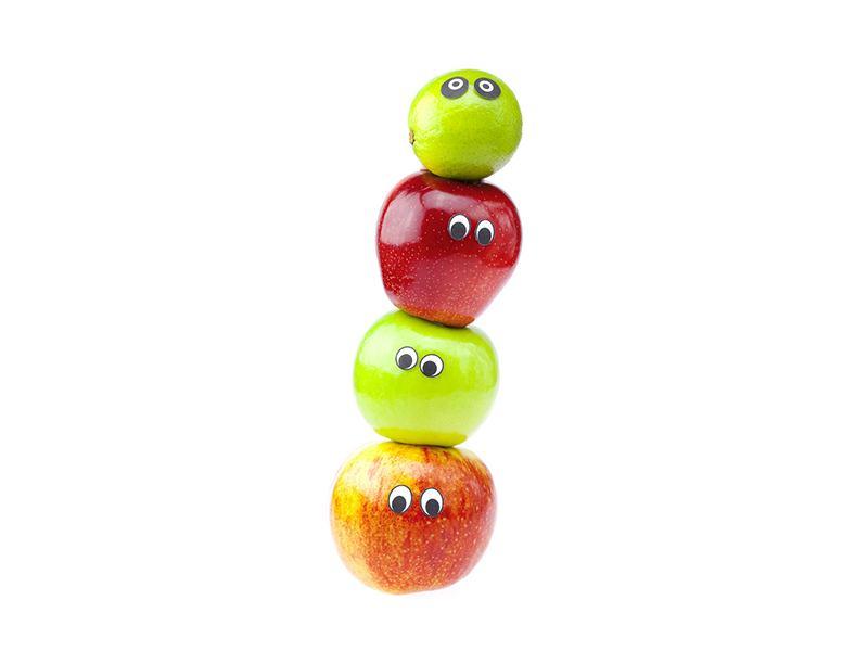 Türtapete Lustiges Obst