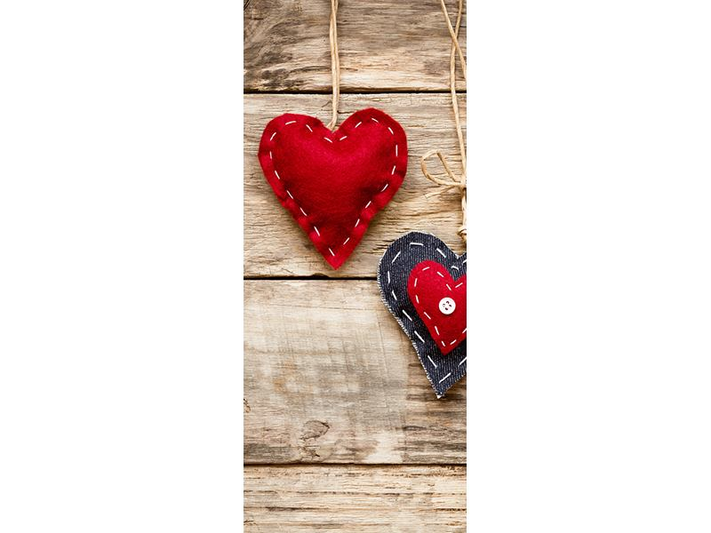 Türtapete Herzromantik