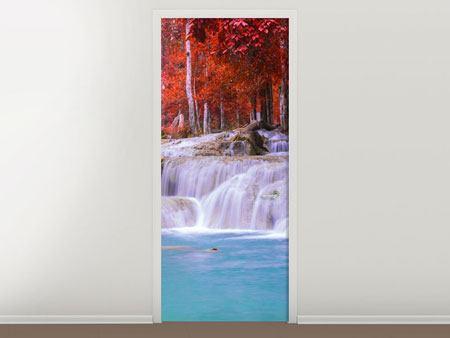 Türtapete Paradiesischer Wasserfall