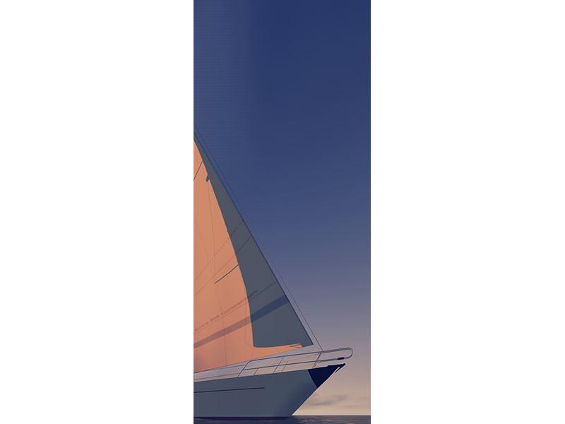 Türtapete Das Segelschiff