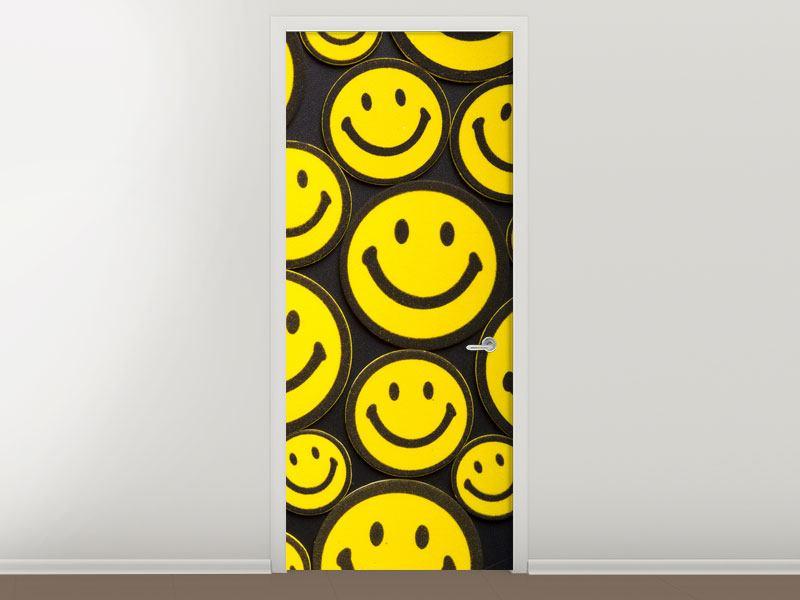Türtapete Smileys