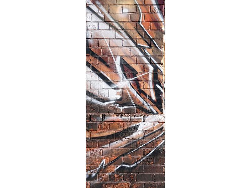 Türtapete Graffiti Mauer