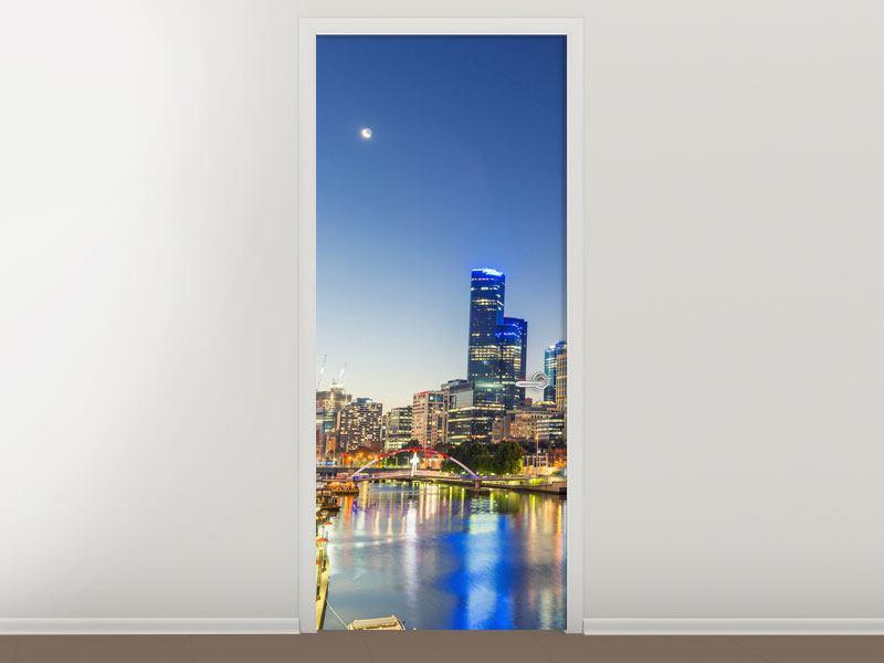 Türtapete Skyline Sydney in der Abenddämmerung